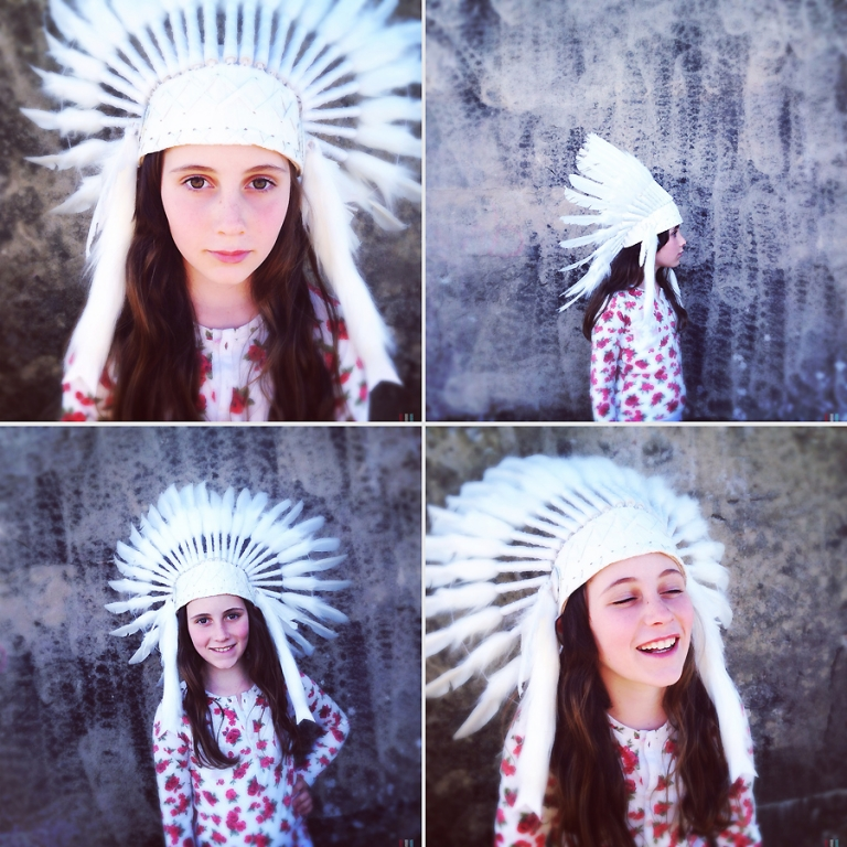 feather headdress costume from gather kids