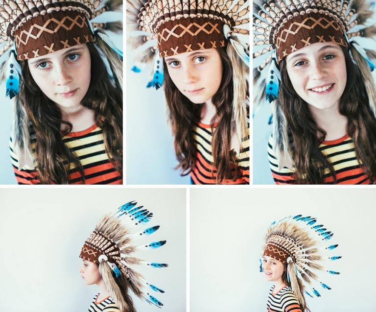 kid's feather head dress costume