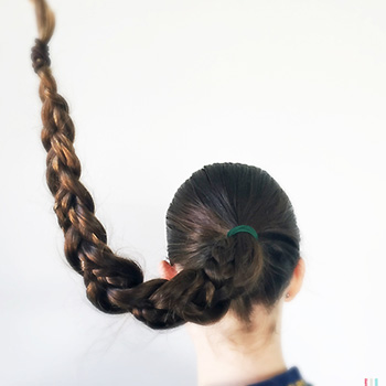 plait hair to reduce tangles
